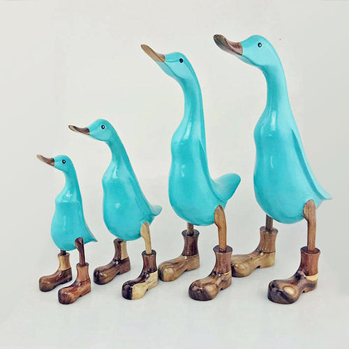 Duck Set of 4 in Boots - Tiffany