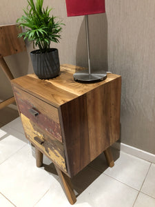 Distressed Timber Bedside Table 1