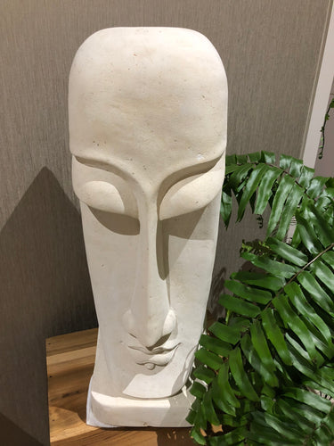 Sandstone Carved Mask Statue