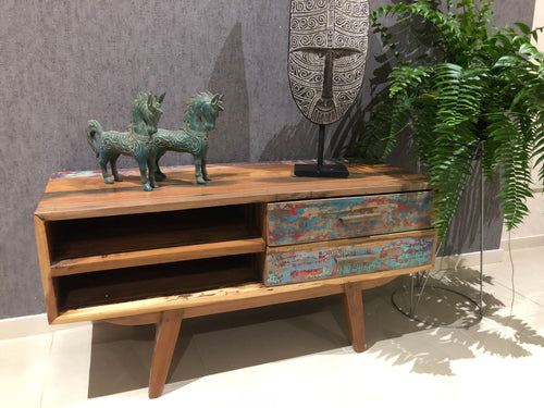 Distressed Timber TV Unit (small)