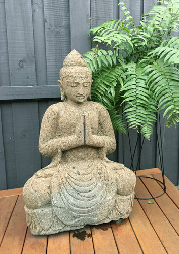 Green Stone Sitting Buddha (Large #1)