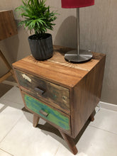 Distressed Timber Bedside Table 2