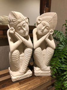 Sandstone Carved Balinese Couple