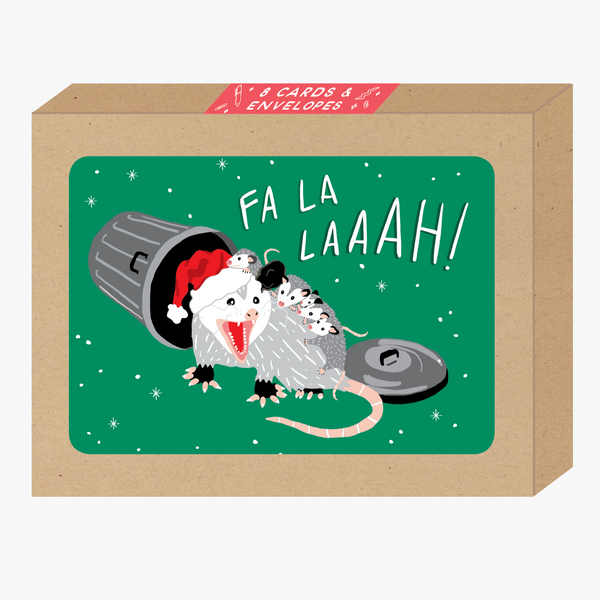 Fa La Possum Card