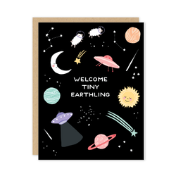 Tiny Earthling Baby Card