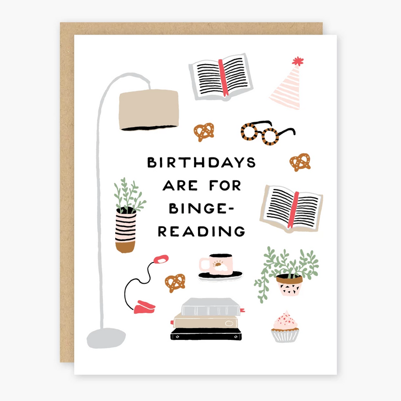 Birthday Binge-Reading Card