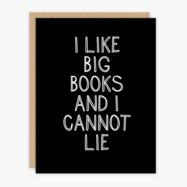 I Like Big Books Card