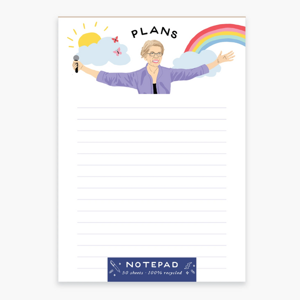 Elizabeth Warren Plans Notepad
