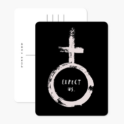 Expect Us Postcard