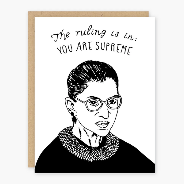 Ruth Bader Ginsburg You Are Supreme Card
