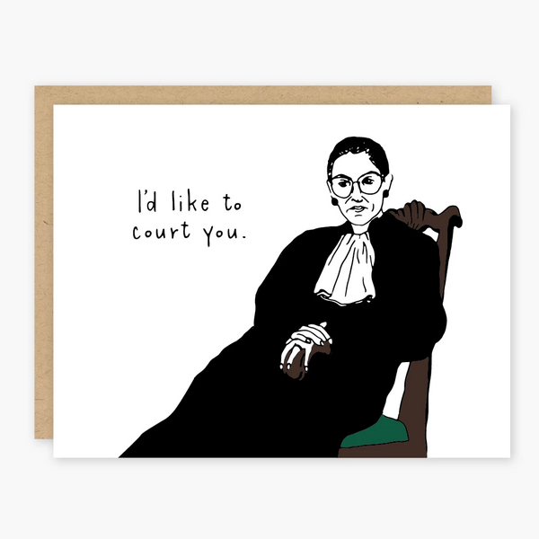 Ruth Bader Ginsburg Court You Card