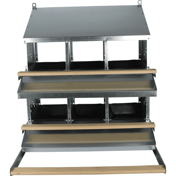 6-Hole Rollaway Chicken Nest Box  - Egg Collection roll out for Poultry Hens - Urban-Egg - Poultry Roll Away Nest Boxes, Chicken Feeders, and More