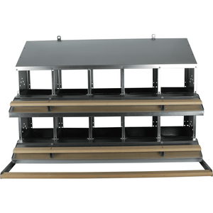 10-Hole Rollaway Egg Collection Poultry Nest Box - Urban-Egg - Poultry Roll Away Nest Boxes, Chicken Feeders, and More