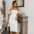 White mesh shirT bodycon dress Sexy summer women off shoulder dinner party midi dress Female slash neck elegant dress