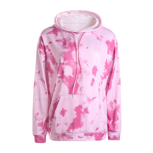 Glamaker Casual long sleeve hoodie sweatshirt women autumn tie dye hoodie fashion 2020 loose rainbow hoodie Female sweatshirt