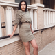 Fashion Women Long Sleeve Turtleneck Dress Turtleneck Solid Bodycon Slim Dress Draped Clubwear Party Above Knee Dresses 2020 New