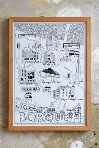 Borough Market Map illustration Jitesh Patel