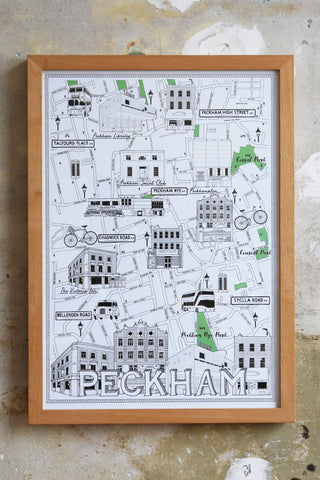 Peckham Map Illustration Jitesh Patel