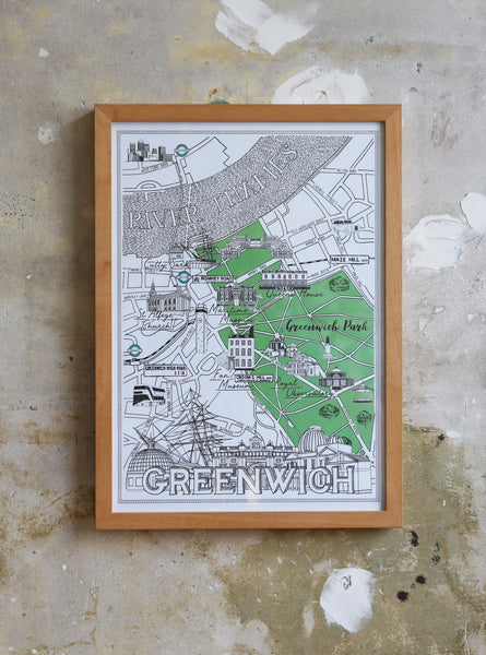 Greenwich Map Illustration Jitesh Patel