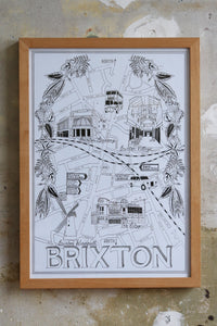 Brixton Map illustration Jitesh Patel