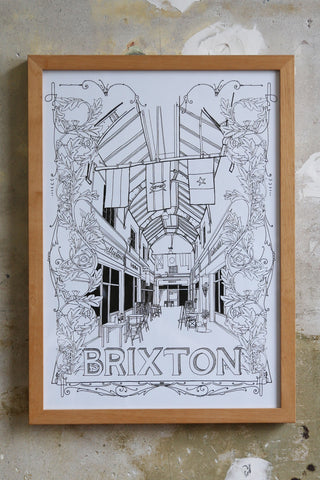 Brixton Village drawing Jitesh Patel