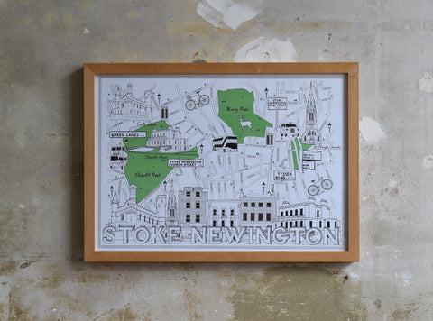 Stoke Newington Map illustration Jitesh Patel