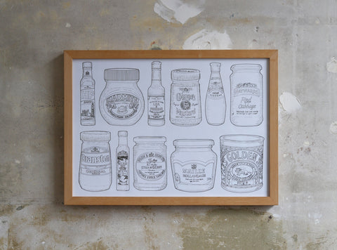 Condiment Drawing Study illustration Jitesh Patel