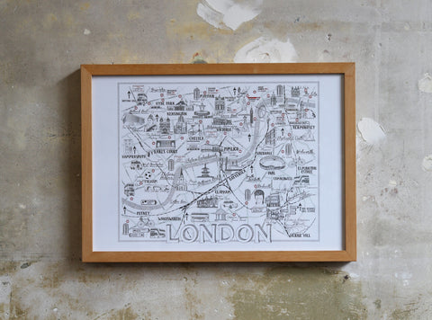 Expanded Central London Map Illustration Jitesh Patel