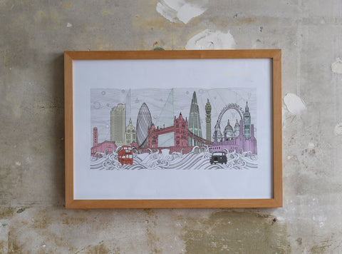 London Skyline illustration Jitesh Patel