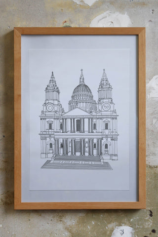 St Pauls Ink Pen Drawing illustration jitesh Patel