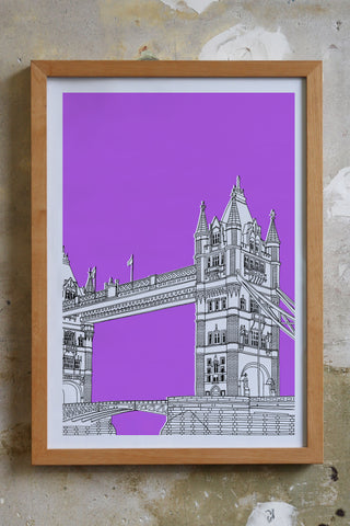 Tower Bridge Screen print Illustration Jitesh Patel