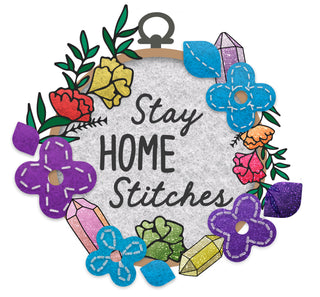 Stay Home Stitches Logo
