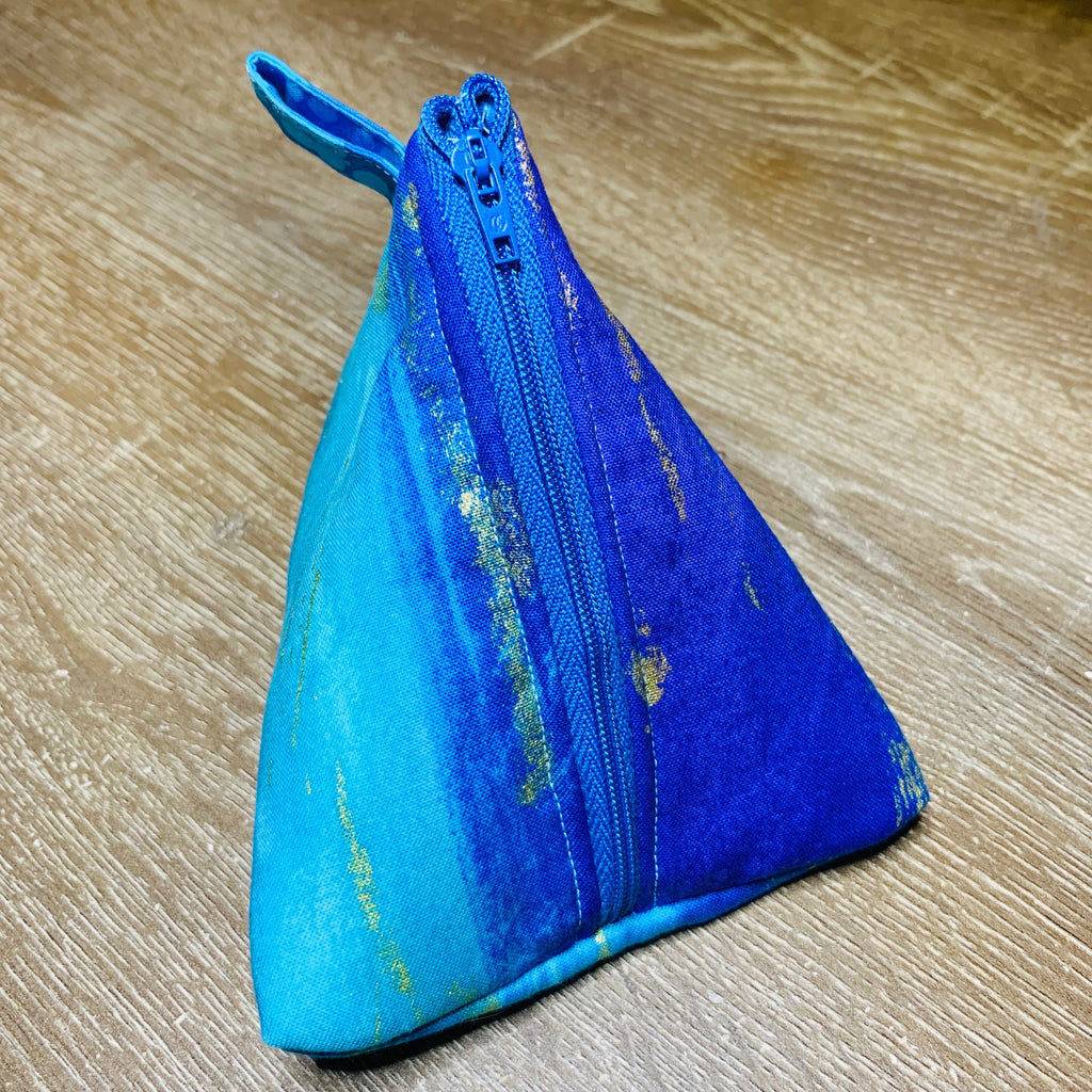 Metallic Moonlight Triangle Pouch