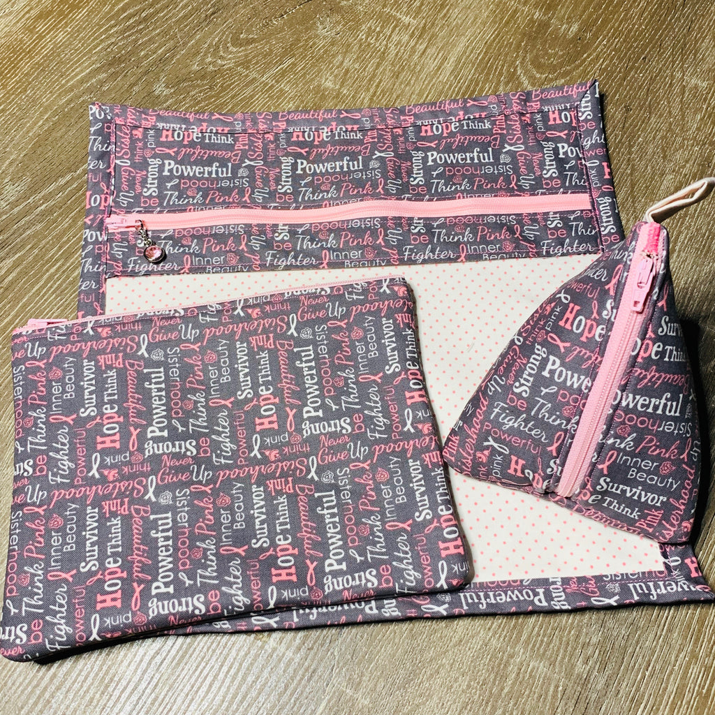 The Lauryn Triangle Pouch- Proceeds Donated to BCRF