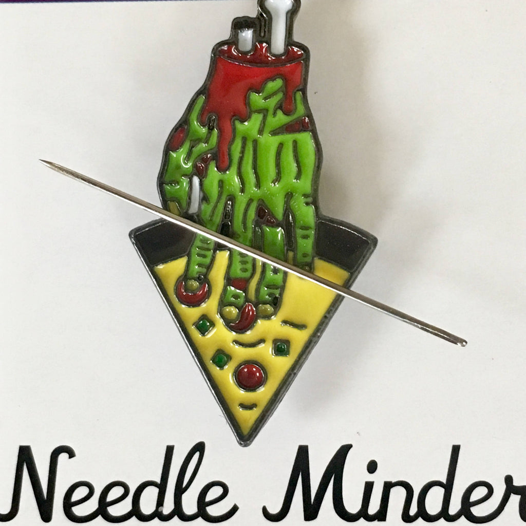 Zombie Hand With Pizza Needle Minder