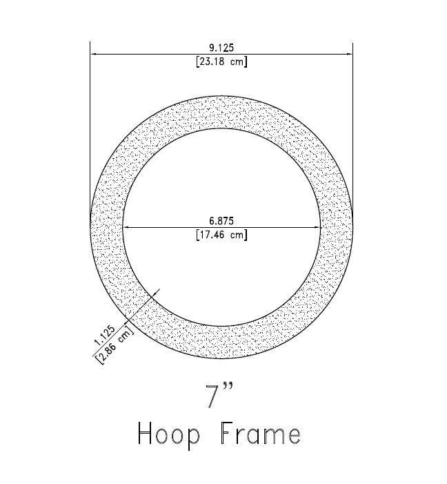 "7 Inch Embroidery Hoop Frame For 7"" Hoop"