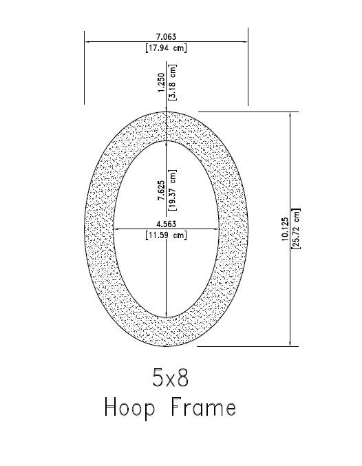 "5x8 Inch Embroidery Hoop Frame For 5x8"" Oval Hoop"