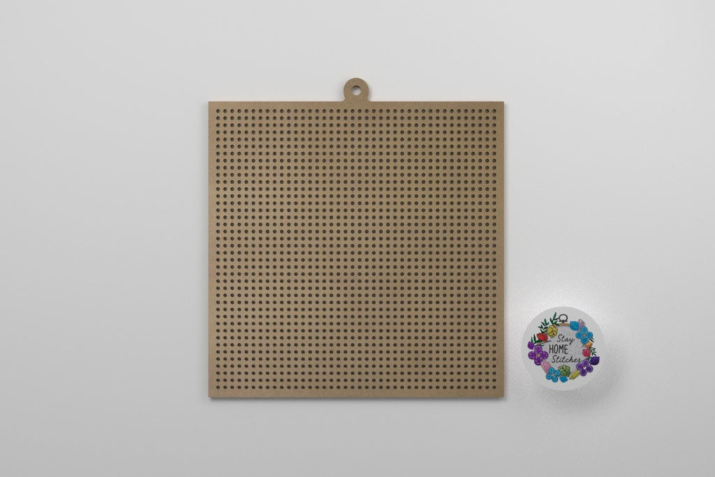 4-Inch Square 40x40 Holes Wooden Cross Stitch Blank