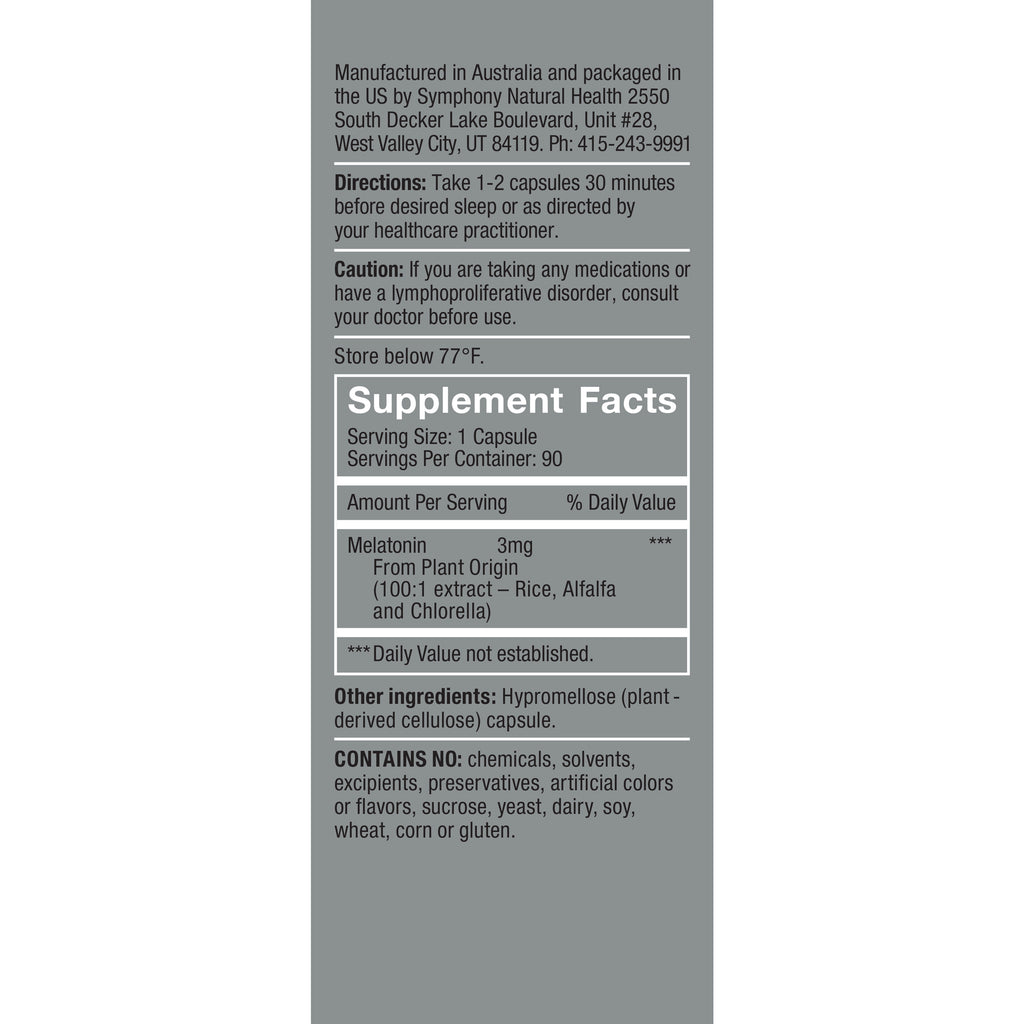 HerbatoninPRO 3mg Supplement Facts, Serving Size: 1 capsule, Servings Per container: 90
