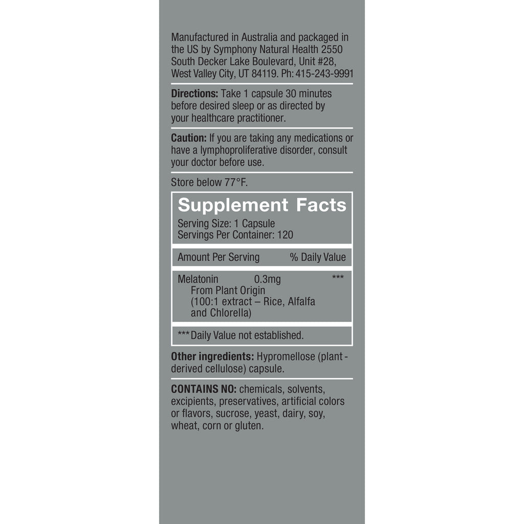 HerbatoninPRO 0.3 mg Supplement Facts, Serving Size: 1 capsule, Servings Per container: 120