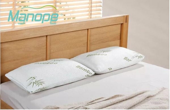 2 x Bamboo Rich Shredded Memory Foam Pillow