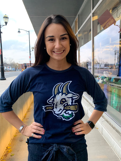 Hartford Yard Goats 3/4 Sleeve Womens Raglan