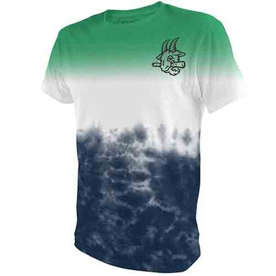 Hartford Yard Goats Retro Brand 3 Tier Tye Die Tee in Green, Blue and White