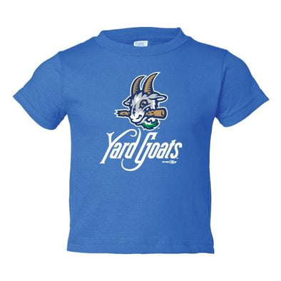 Hartford Yard Goats Toddler BR Primary Logo Tee in Blue