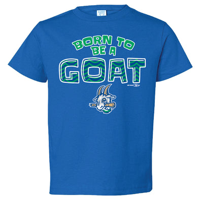 Toddler Bimm Ridder Born To Be A Goat Tee in Royal