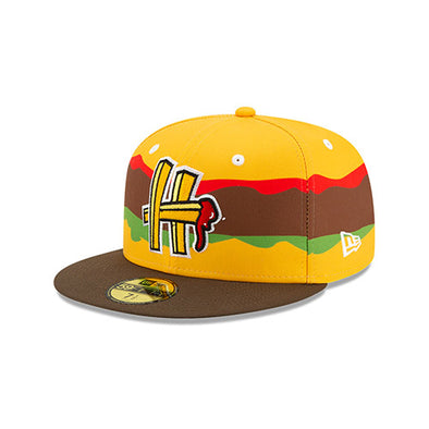Hartford Steamed Cheeseburger New Era Fries Logo Official On-Field Cap