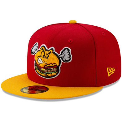 Hartford Steamed Cheeseburger New Era 2019 On-Field Cap in Red/Yellow
