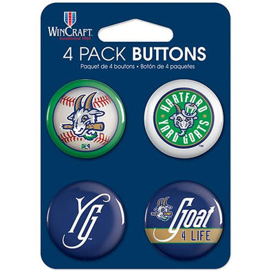 Hartford Yard Goats Button Pack - 4 Piece
