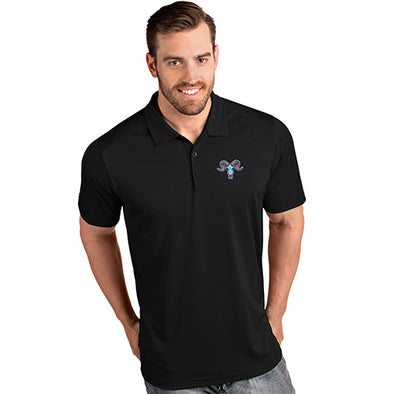 Hartford Yard Goats Antigua Adult Chivos Polo in Black