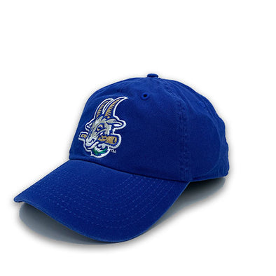 Hartford Yard Goats Retro Brand Franchise Logo Cap in Blue